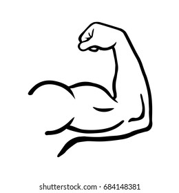 Powerful muscular male arm.Vector