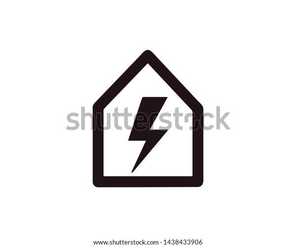 Powerhouse Bolt Black Icon Vector Energy Stock Vector Royalty Free 1438433906