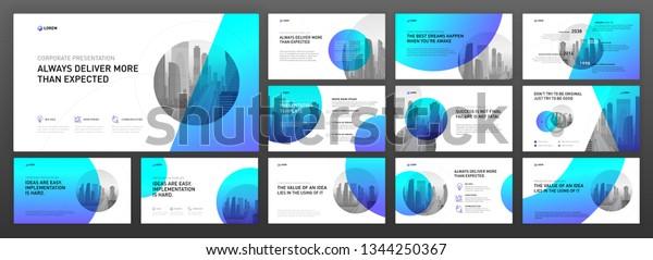 Image Vectorielle De Stock De Modèles De Présentation
