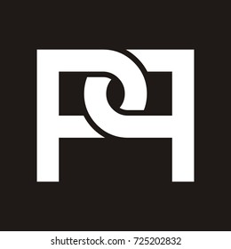 PP initial letter logo design template vector
