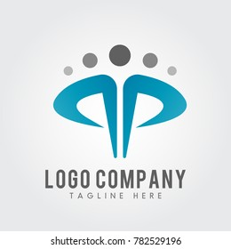 PP Letter Logo concept. Creative people icon vector. Graphic Alphabet Symbol for Corporate Business Identity. Creative Vector element