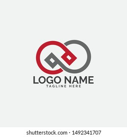 PP letter logo vector with shape