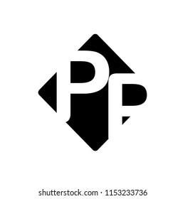 pp letter vector logo