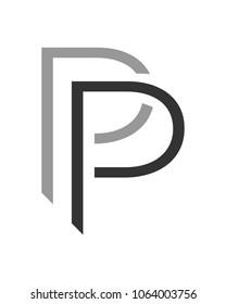 pp letter vector logo template