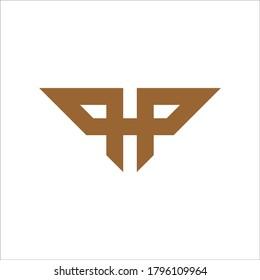 PP logo design vector sign
