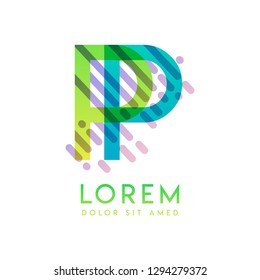 PP logo with the theme of galaxy speed and style that is suitable for creative and business industries. PP Letter Logo design for all webpage media and mobile, simple, modern and colorful