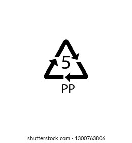 PP mark. polypropylene sign