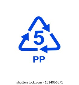 PP recycling icon. Vector illustration