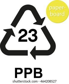 PPB paperboard recycling code