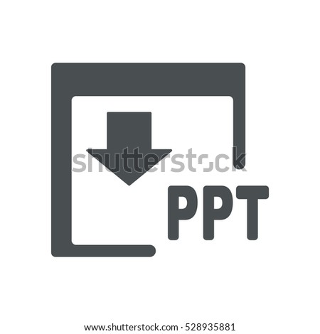 ppt icon flat design style stock vector royalty free 528935881