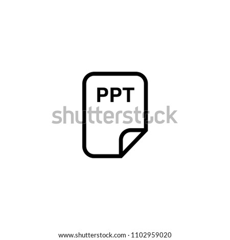 ppt icon vector stock vector royalty free 1102959020 shutterstock