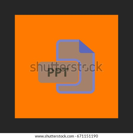 ppt icon vector flat simple pictogram stock vector royalty free
