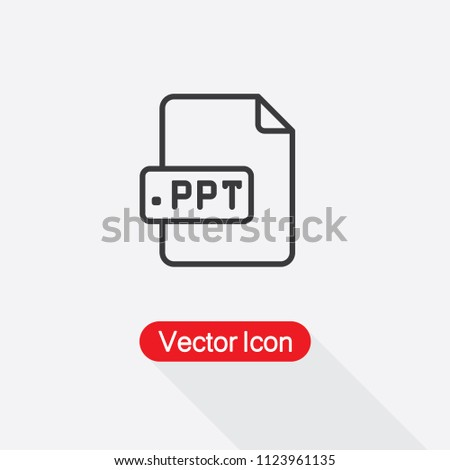 ppt icon vector ilustration eps 10 stock vector royalty free