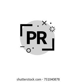 PR agency logo. Icon public relations. Stock vector