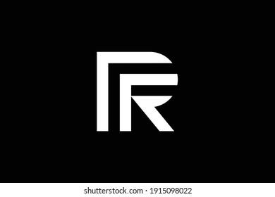 PR letter logo design on luxury background. RP monogram initials letter logo concept. PR icon design. RP elegant and Professional white color letter icon on black background.
