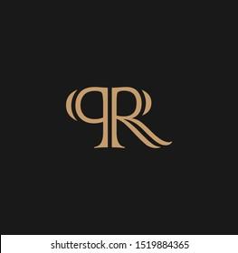 PR letter logo and icon design