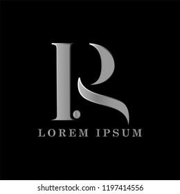 PR letter logo template vector illustration graphic design