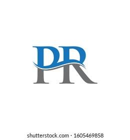 PR Letter Type Logo Design Vector Template. Abstract Letter PR Logo Design