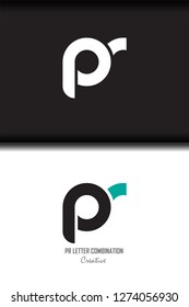 pr p r circle lowercase design of alphabet letter combination with infinity suitable as a logo for a company or business - Vector