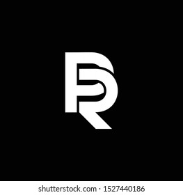 PR or RP font designs for logo and icons