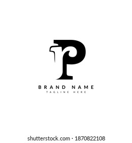 PR RP letter combination concept for company and business logo.
