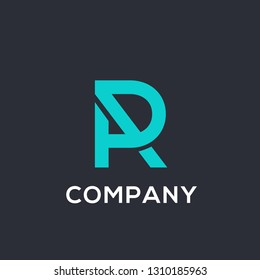 PR or RP letter logo template, vector file color and text is easy to change