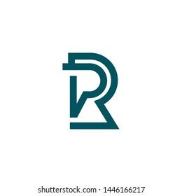 PR RP P R initial based letter icon logo. RP or PR letter logo.