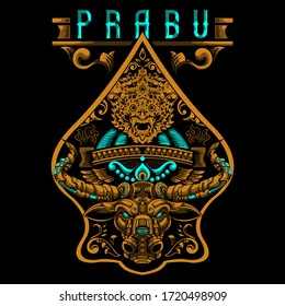 Prabu-Indonesian culture with vintage style
