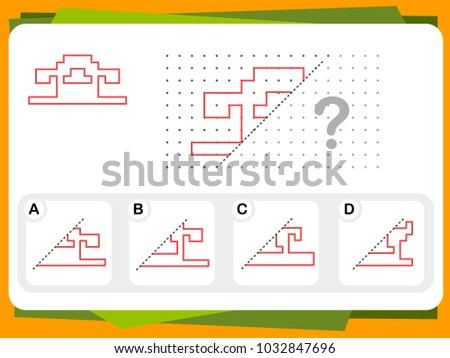 Practice Questions Worksheet Education Iq Test Stock Vector Royalty