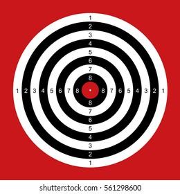 Practice Shooting Range Target Bulls Eye