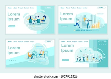Practicing Active Listening Techniques. Golden Champion Cup for Top Seller. Building Effective Team Able to Solve Complicated Business Tasks. Four Landing Page Templates. Copy Space for Extra Text.