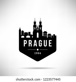 Prague City Modern Skyline Vector Template