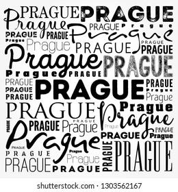 Prague wallpaper word cloud, travel concept background