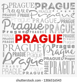 Prague wallpaper word cloud, travel concept background
