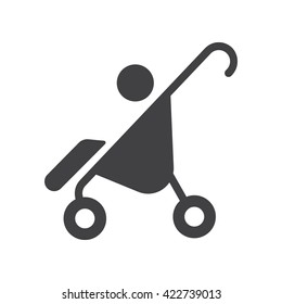 Pram icon Vector Illustration on the white background.