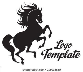 Prance horse logo template
