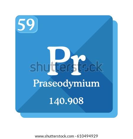 Praseodymium Pr Element Periodic Table Vector Stock Vector Royalty