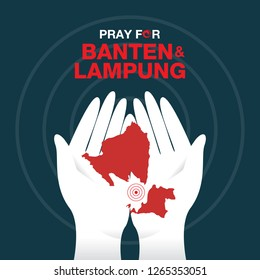 Pray for Banten and Lampung, the symbol of humanity and solidarity for tsunami victims in Banten and Lampung Indonesia