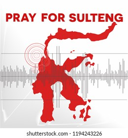 Pray for Donggala Sulawesi, the symbol of humanity for Earthquake natural disaster in Sulawesi