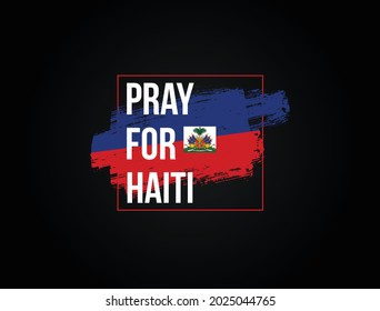 Pray For Haiti vector illustration. praying for Haiti effected by earthquake, wild fire and others natural disaster.