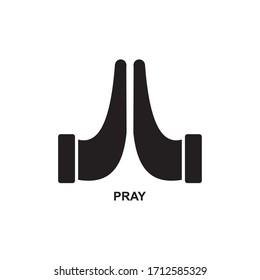 PRAY ICON , CHRIST ICON VECTOR