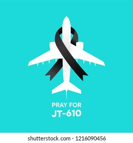 pray for JT 610 accident vector illustration concept