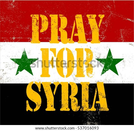 pray syria campaign poster background illustration stock vector