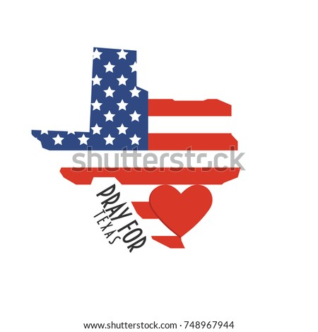 Mass Shootings By State Map.Pray Texas Vector Illustration Great Donate Stock Vector Royalty