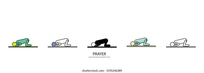 PRAYER man vector type icon