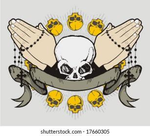 prayer skull