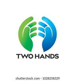 Praying Hand Logo Icon vector