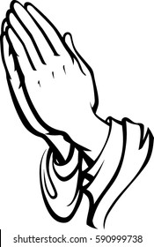 Praying Hands Outline