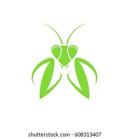 Praying mantis. Logo. Vector illustration