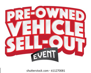 Pre Owned Vehicle Sell-Out Headline Vector